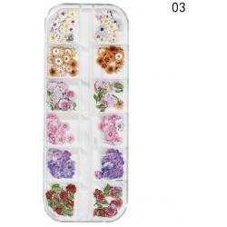 240 бр Имитации на Цветя за Декорация на Маникюр Модел3