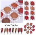 пигменти матово златно-червена серия