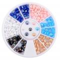 многоцветни перли за декорация -3мм