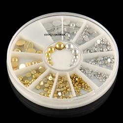 перли за декорация златни и сребърни в 6 размера ZP056