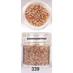 3D мини перлички за декорация на маникюр 10ml - 339