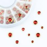 перли за декорация в кутия червени ZP197