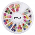 перли за декорация 4 мм в кутия микс