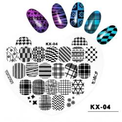 диск за маникюр, декорация KX-04