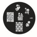 метален диск за маникюр, декорация m83