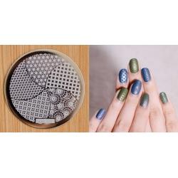 метален диск за маникюр, декорация hehe 024