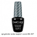 opi гел лак gelcolor - on her majetys secret HL D27