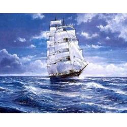5D диамантен/елмазен гоблен кораб в морето