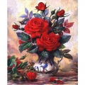 5D диамантен/елмазен гоблен червени рози