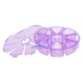 кутия за камъчета шестограм  - 10.7*2.7cm лилава