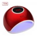 лампа за маникюр Star 5, UV LED, 72w, 33 led, дигитален дисплей, червена