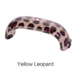 лед лампа дъга за изпичане на гел лак, шилак - 9w - жълт леопард