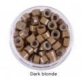 екстешън пръстени със силикон 5 мм 100бр - dark blonde