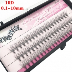 изкуствени мигли на снопчета, 10D, 10мм
