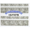 3D стикери за маникюр дантела сребърен HBJY 007