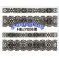 3D стикери за маникюр дантела черна HBJY 008