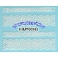 3D стикери за маникюр дантела бяла HBJY 008