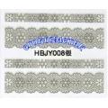 3D стикери за маникюр дантела сребърен HBJY 008
