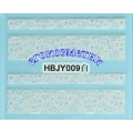 3D стикери за маникюр дантела бяла HBJY 009