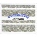 3D стикери за маникюр дантела сребърен HBJY 009