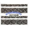 3D стикери за маникюр дантела черна HBJY 009