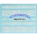 3D стикери за маникюр дантела бяла HBJY 010
