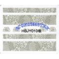 3D стикери за маникюр дантела сребърен HBJY 010
