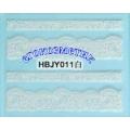 3D стикери за маникюр дантела бяла HBJY 011