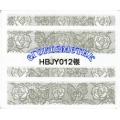 3D стикери за маникюр дантела сребърен HBJY 012