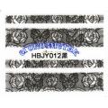 3D стикери за маникюр дантела черна HBJY 012