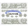 3D стикери за маникюр дантела сребърен HBJY 019