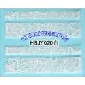 3D стикери за маникюр дантела бяла HBJY 020
