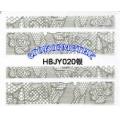 3D стикери за маникюр дантела сребърен HBJY 020