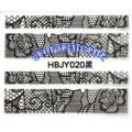 3D стикери за маникюр дантела черна HBJY 020
