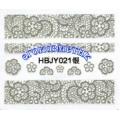 3D стикери за маникюр дантела сребърен HBJY 021