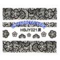 3D стикери за маникюр дантела черна HBJY 021
