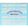 3D стикери за маникюр дантела бяла HBJY 022