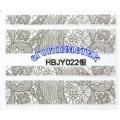 3D стикери за маникюр дантела сребърен HBJY 022