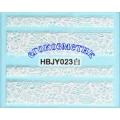3D стикери за маникюр дантела бяла HBJY 023