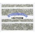 3D стикери за маникюр дантела сребърен HBJY 023