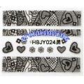 3D стикери за маникюр дантела черна HBJY 024