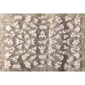 3D стикер цветя бели холограмни лепящ YG316