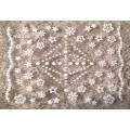 3D стикер цветя бели холограмни лепящ YG320