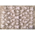 3D стикер цветя бели холограмни лепящ YG323