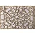3D стикер цветя бели холограмни лепящ YG328