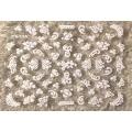 3D стикер цветя бели холограмни лепящ YG335