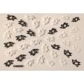 3D стикер цветя черно бели лепящ YG222