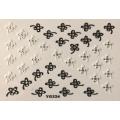 3D стикер цветя черно бели лепящ YG224