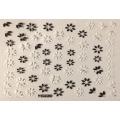 3D стикер цветя черно бели лепящ YG229