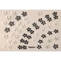 3D стикер цветя черно бели лепящ YG231